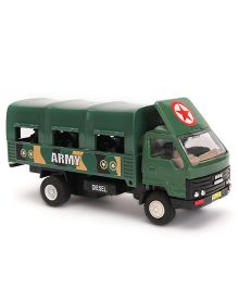 Commando Pull Back Army Truck Toy - Green
