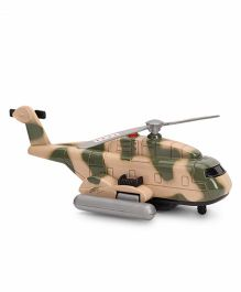 Commando Pull Back Rescue Helicopter - Green