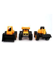 JCB Construction Team Pack Of 3 - Yellow