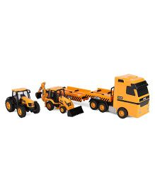 JCB Trasnporter And Vehicle Pack Of 3 - Yellow