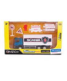 RMZ Scania Container Truck Playset - White Blue