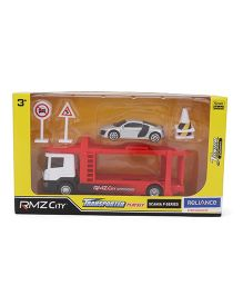 RMZ Scania Transporter Playset -  Red and White