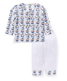 Frangipani Kids Wizard Magic Print Night Suit - White