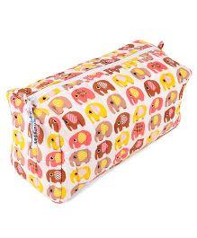 Frangipani Kids Elephant Print Toiletry Bag  - Multicolour