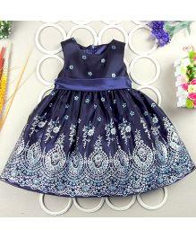 Dazzling Dolls Exclusive Party Dress With Motifs - Dark Blue