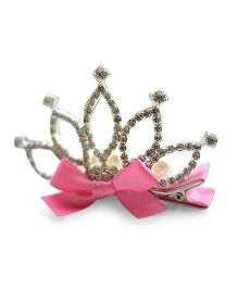 Little Miss Cuttie Crown Hair Clip- Pink