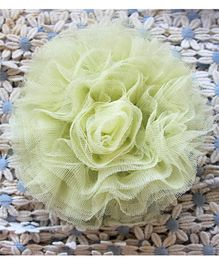 Many Frocks Flower Frilled Clip - Yellow