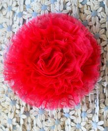 Many Frocks Flower Frilled Clip - Pink