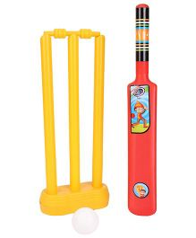 Lata Toys Howzzat Junior Cricket Set - Red And Yellow