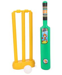 Lata Toys Howzzat Junior Cricket Set - Green And Yellow