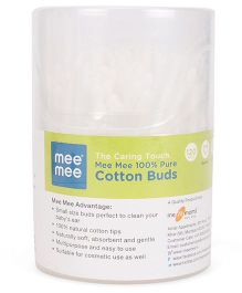Mee Mee Cotton Ear Buds Mini Tips - 120 Pieces