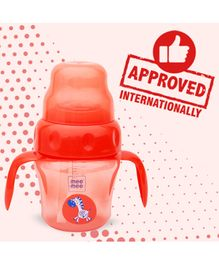 Mee Mee 2 in 1 Spout & Straw Sipper Cup Red - 150 ml
