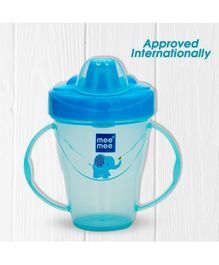 Mee Mee Easy GripTwin Handle Non Spill Sipper Cup Blue - 180 ml