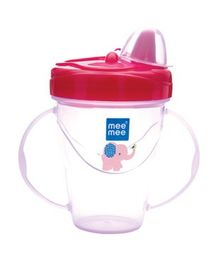 Mee Mee Easy GripTwin Handle Non Spill Sipper Cup Red - 180 ml