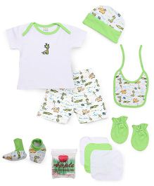Mee Mee Clothing Gift Set Pack Of 9 - Green & White