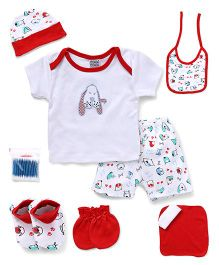 Mee Mee Clothing Gift Set Pack Of 8 - Red & White