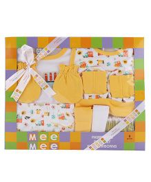 Mee Mee Clothing Box Gift Set Pack Of 9 - Yellow & White