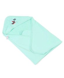 Mee Mee Hooded Towel Boat Print - Green
