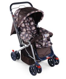 Mee Mee Stroller Cum Pram - Coffee Brown