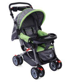 Mee Mee Stroller Cum Pram MM35 A - Green & Grey
