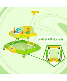 Mee Mee Super Safe Musical Walker And Rocker - Green