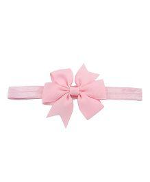 Angel Closet Flower Bow Headband - Pink