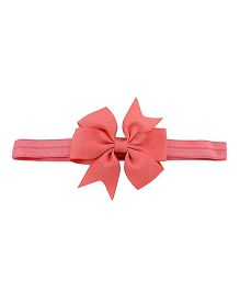 Angel Closet Flower Bow Headband - Coral