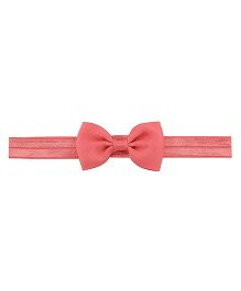 Angel Closet Small Bow Headband - Coral