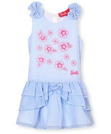 Barbie Sleeveless Frock Floral Print - Blue