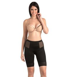 Swee Jade Low Waist & Short Thigh Shaper - Black