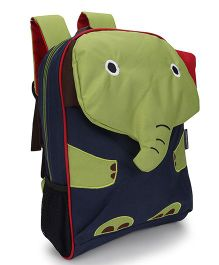 My Milestones Toddler And Kids Backpack Elephant Green - 13 inch