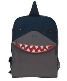 My Milestones Toddler And Kids Backpack Shark Navy And Grey - 13 inch