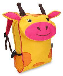 My Milestones Kids Backpack Giraffe Design Yellow - Height 13 Inches