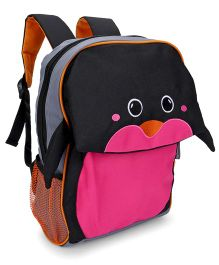 My Milestones Kids Backpack Penguin Navy Pink - Height 13 Inches