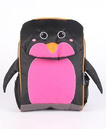 My Milestones Toddler Kids Backpack Penguin Navy Pink - 13 inch
