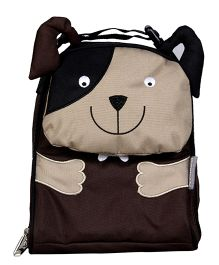My Milestones Toddler Kids Lunch Bag Dog Design Brown - 9 inch