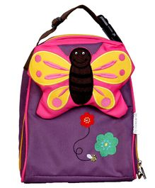 My Milestones Toddler Kids Lunch bags Butterfly Purple - 9 inch