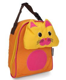 My Milestones Kids Lunch Bag Cat Design - Orange Yellow