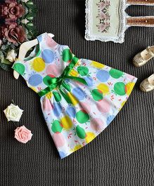 Superfie Fruit Print Dress For Girls - Multicolour