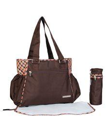 My Milestones Diaper Bag Spectra Plaid Design - Brown