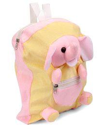 IR Elephant Soft Toy Bag Cream Pink - 12 inch