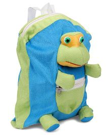 IR Frog Soft Toy Bag Blue Green - Height 12 inches