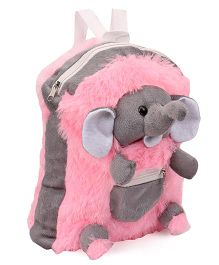 IR Elephant Soft Toy Bag Pink Grey - Height 12 inches