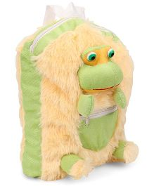 IR Frog Soft Toy Bag Green Cream - Height 12 inches