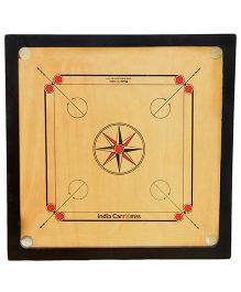 India Carromss Standard Senior Wooden Carrom - Brown And Black