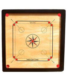 India Carromss Standard Senior Wooden Carrom Board - Brown