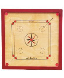 India Carromss Standard Senior Wooden Carrom Board - Red And Brown