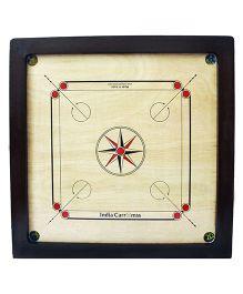 India Carromss Semi Tournament Wooden Carrom Board - Black