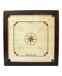 India Carromss Semi Tournament Wooden Carrom Board - Deep Brown