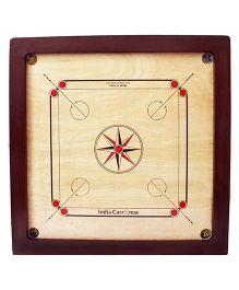 India Carromss Semi Tournament Wooden Carrom Board - Red